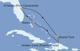 Itinerario de crucero Caribe del Este 7 días a bordo del Carnival Magic
