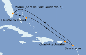 Itinerario de crucero Caribe del Este 8 días a bordo del Caribbean Princess