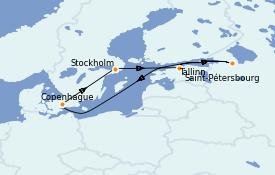 Itinerario de crucero Mar Báltico 8 días a bordo del Jewel of the Seas