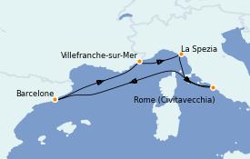 Itinerario de crucero Mediterráneo 6 días a bordo del Odyssey of the Seas