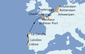Itinerario de crucero Mar Báltico 12 días a bordo del Azamara Journey