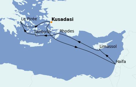 Itinerario del crucero Grecia y Adriático 7 días a bordo del MSC Lirica