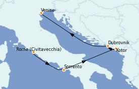 Itinerario de crucero Mediterráneo 7 días a bordo del Azamara Journey