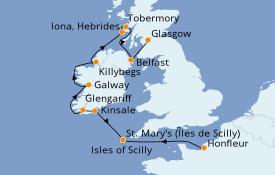 Itinerario de crucero Islas Británicas 9 días a bordo del Le Dumont d'Urville
