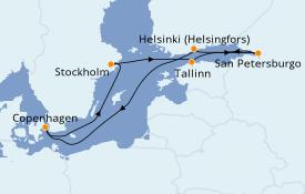 Itinerario de crucero Mar Báltico 9 días a bordo del Jewel of the Seas