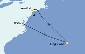 Itinerario de crucero Trasatlántico y Grande Viaje 2023 8 días a bordo del Norwegian Bliss