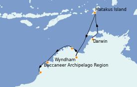 Itinerario de crucero Australia 2022 11 días a bordo del Silver Explorer