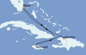 Itinerario de crucero Caribe del Oeste 6 días a bordo del Explorer of the Seas