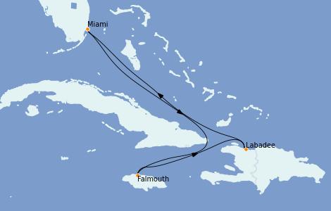 Itinerario del crucero Caribe del Oeste 5 días a bordo del Explorer of the Seas