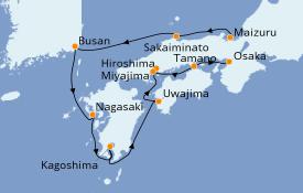 Itinerario de crucero Asia 9 días a bordo del Le Soléal