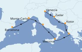 Itinerario de crucero Mediterráneo 10 días a bordo del Celebrity Constellation