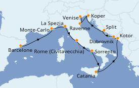 Itinerario de crucero Trasatlántico y Grande Viaje 2021 12 días a bordo del Norwegian Spirit