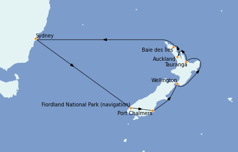 Itinerario del crucero Australia 2022 13 días a bordo del Royal Princess