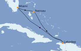 Itinerario de crucero Bahamas 6 días a bordo del Explorer of the Seas