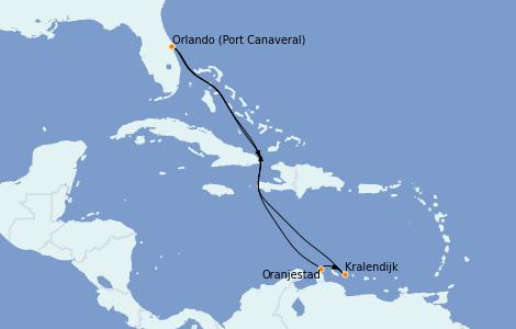 Itinerario del crucero Caribe del Este 8 días a bordo del Mariner of the Seas