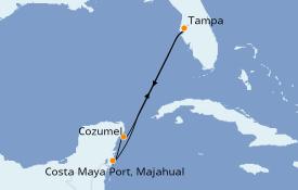 Itinerario de crucero Caribe del Oeste 6 días a bordo del Brilliance of the Seas