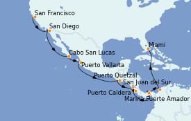 Itinerario de crucero Trasatlántico y Grande Viaje 2021 18 días a bordo del Norwegian Encore