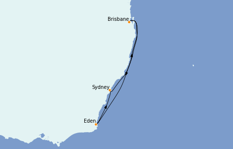 Itinerario del crucero Australia 2023 5 días a bordo del Quantum of the Seas