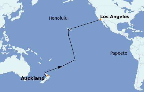 Itinerario del crucero Australia 2022 20 días a bordo del Sapphire Princess