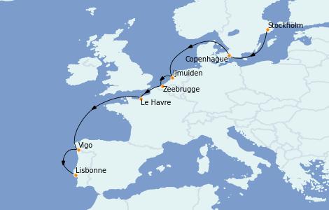 Itinerario del crucero Mar Báltico 10 días a bordo del Costa Favolosa