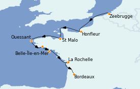 Itinerario de crucero Atlántico 11 días a bordo del MS World Explorer