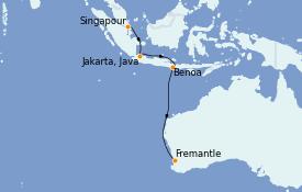 Itinerario de crucero Australia 2022 9 días a bordo del Queen Elizabeth