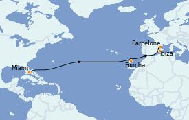 Itinerario de crucero Mediterráneo 16 días a bordo del Seabourn Quest