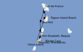 Itinerario de crucero Caribe del Este 8 días a bordo del Le Bougainville