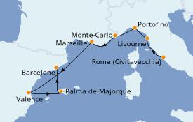 Itinerario de crucero Mediterráneo 10 días a bordo del Silver Shadow