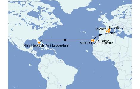 Itinerario del crucero Trasatlántico y Grande Viaje 2022 14 días a bordo del Vision of the Seas