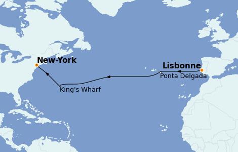 Itinerario del crucero Islas Canarias 9 días a bordo del Norwegian Epic