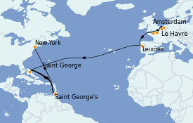 Itinerario de crucero Mar Báltico 16 días a bordo del MS Insignia
