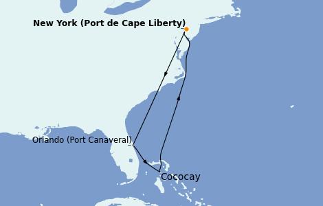 Itinerario del crucero Canadá 6 días a bordo del Anthem of the Seas