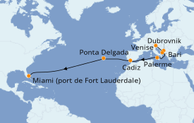 Itinerario de crucero Mediterráneo 20 días a bordo del Pacific Princess