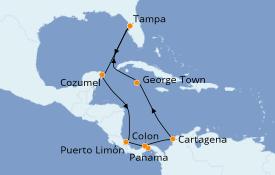 Itinerario de crucero Caribe del Oeste 12 días a bordo del Celebrity Constellation