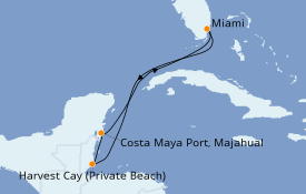 Itinerario de crucero Caribe del Oeste 6 días a bordo del Norwegian Joy