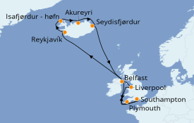 Itinerario de crucero Islas Británicas 16 días a bordo del Azamara Pursuit