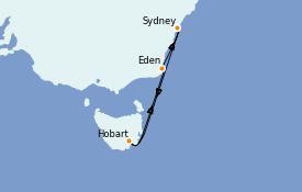 Itinerario de crucero Australia 2021 7 días a bordo del Serenade of the Seas