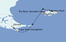 Itinerario de crucero Suramérica 15 días a bordo del Le Lyrial
