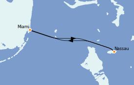 Itinerario de crucero Bahamas 3 días a bordo del Celebrity Summit
