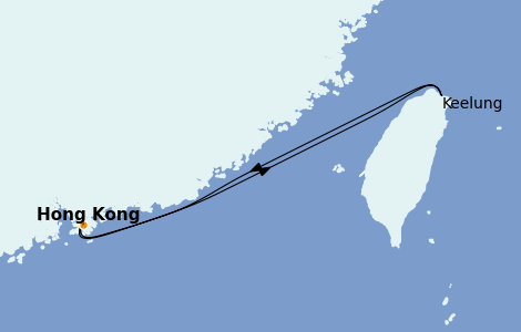 Itinerario del crucero Asia 4 días a bordo del Wonder of the Seas