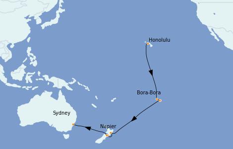 Itinerario del crucero Trasatlántico y Grande Viaje 2022 20 días a bordo del Ovation of the Seas