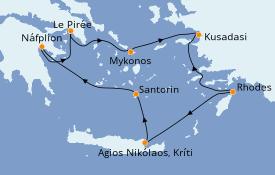 Itinerario de crucero Grecia y Adriático 8 días a bordo del Silver Dawn