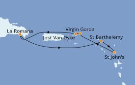 Itinerario de crucero Caribe del Este 8 días a bordo del Club Med 2