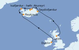 Itinerario de crucero Exploración polar 14 días a bordo del Azamara Journey
