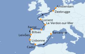 Itinerario de crucero Mediterráneo 12 días a bordo del Seven Seas Navigator