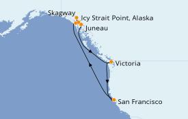 Itinerario de crucero Alaska 11 días a bordo del Carnival Miracle