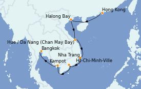 Itinerario de crucero Asia 13 días a bordo del MS Insignia