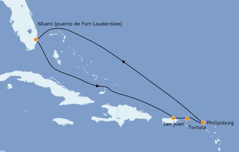 Itinerario del crucero Caribe del Este 7 días a bordo del Celebrity Edge