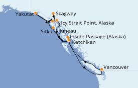 Itinerario de crucero Alaska 10 días a bordo del Celebrity Eclipse